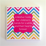 1 x Ceramic Tile Drink Coaster Muliticolour Mother Quote for Mother's Day