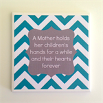 1 x Ceramic Tile Drink Coaster Aqua & Grey Mother Quote for Mother's Day
