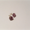 Light Amethyst Cabochon Stud Earrings
