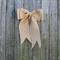 Wedding Pew Bow. Aisle Decoration. Burlap Aisle Bow for Your Wedding.