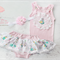 Shabby Chic 'Vintage Bunny' 3 Piece Baby Girl set Headband