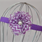 Purple Chevron Flower Headband, size 6 months - 3 yrs