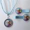 Disney FROZEN Boutique Bottlecap Pendant Necklace & Hair Clips
