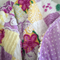 vintage chenille minky quilt throw purple yellow blanket