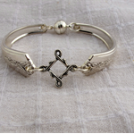 Bracelet made from vintage, silver plated cutlery.