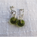 Earrings made from recycled bottles
