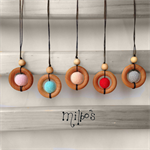 Milbo's crochet necklace pendants