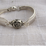 Bracelet made from vintage silver plated cutlery.
