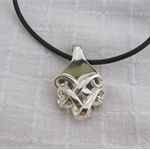Pendant necklace made from vintage silver plated cutlery