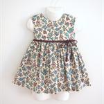 Size1 Blue flower Party dress
