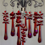 STUNNING DRAGON TEAR CRYSTAL CHANDELIER