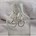 Earrings made from vintage silver plated forks