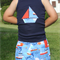 "Navy ""Sailboat"" Singlet"