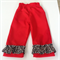 Red pants with frill