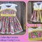 OOAK Size 1 ~ Butterfly Garden Cottage Party Dress + FREE Gift