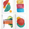 Collection 4 - Abstract Art 4x6 Prints; 3 Colour, Linear, Half Circles,Geometric