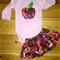 For the Apple of your Eye! Adorable Appliqued Onesie and Skirt Set 12-18m