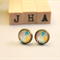 Vintage inspired Bronze stud earrings