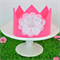 Hot Pink Flower Crown with Ribbon Ties – Dress Up / Birthday / Photo Prop