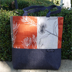Patchwork Tote - Orange