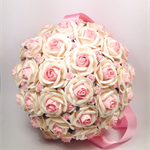 Off white with pale pink Mulberry Paper Flower Ball