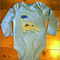 Roar!! For your little Paleontologist!! Adorable DinosaurAppliqued Onesie 12-18m