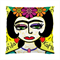 Frida with Flowers & Heart Earrings Double Sided Art Cushion Cover