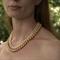 Swarovski gold pearls, Sterling Silver, necklace
