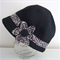 Ladies stylish woollen cloche hat