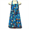Child's apron in cute blue owl fabric titled Forest Fun(Size Medium)
