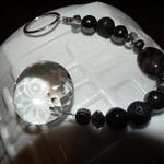Crystal Cleansing SALEblack Gemstone Sun Catcher Tourmaline Lava Hematite Pearl