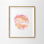 Dream Watercolour Print - Sunset