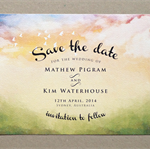 Printable Save the Date Card. Wedding Announcement. Engagement Invitation - Wate