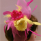 Neon Pink and Yellow Fascinator