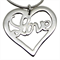 LOVE Heart Necklace - Sterling Silver