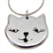 CAT FACE STERLING SILVER NECKLACE - Free Shipping!