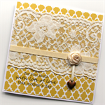 mother's day card lace & ribbon rose