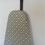 Ironing Board Cover - yellow black and white diamond print