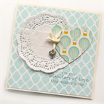 mother's day card bird & paper heart & doily hot air balloons