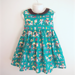 Size3 Retro Kids Green Party dress