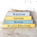 Custom Mum's Blessings Name Word Block Set ~ Mother's Day