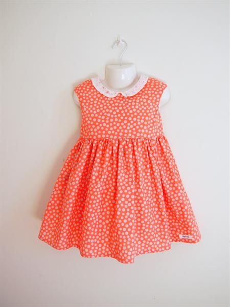 Size3 Pink x Grey dot Party dress