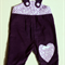 Girl's Purple Corduroy Overalls with Floral Applique - Size 1