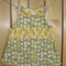 Grey and lemon print pinafore size 2.
