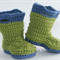 Crocheted Baby Goshalosh Booties. Size 3-6 months