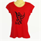 Red Punk Tinkerbell TShirt - screen print - ladies sizes avail