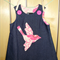 Denim bird pinafore size 3.