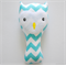 Aqua Chevron Owl Rattle