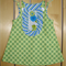 Green and blue print pinafore size 4.
