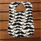 Large Toddler Baby Bib Black Moustache